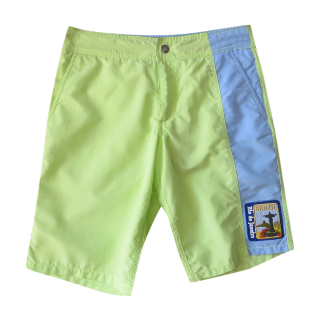 Vilebrequin lime green BRAZIL swim shorts