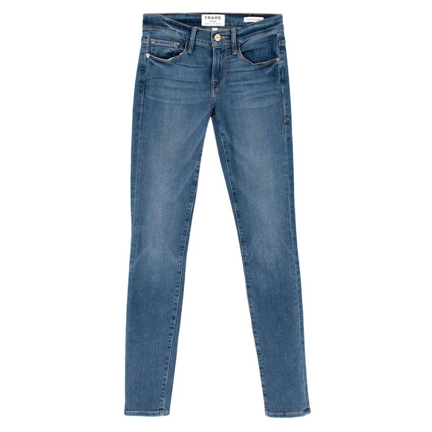 Frame Mid Wash Skinny Fit Jeans
