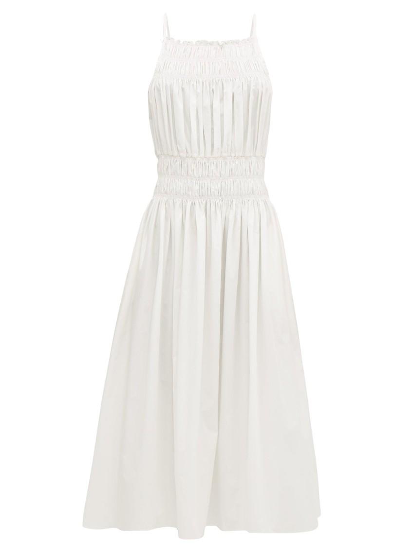 Three Grace London Ruched White Dress