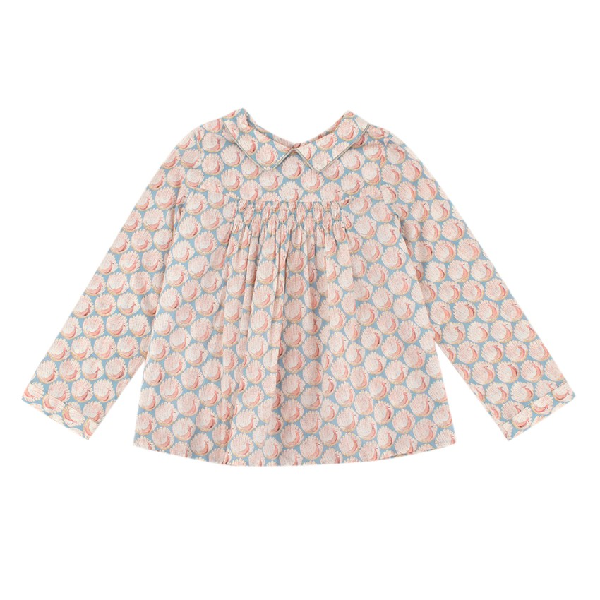 Bonpoint Pink Long-Sleeved Peacock Blouse
