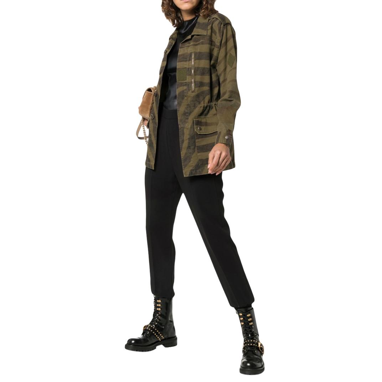 Saint Laurent Khaki Zebra Print Jacket