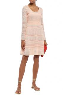 Missoni Peach Crochet Knit Dress