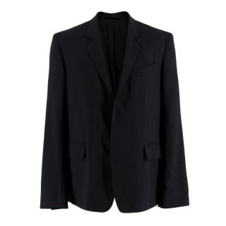 Ann Demeulemeester Black Fleece Wool Tailored Jacket