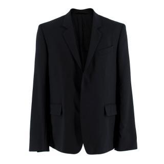 Ann Demeulemeester Black Fleece Wool Tailored Jacket
