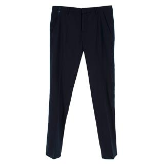 Gaubert Navy Wool Tapered Trousers