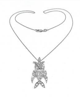 Bespoke Victoria Diamond Pendant in 18ct White Gold