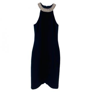 Michael Kors Chain Trim Wool Sleeveless Dress