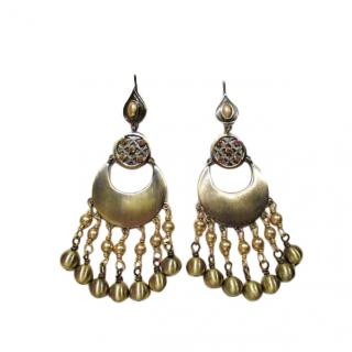 Dyrberg/Kern Gold Tone Chandelier Earrings