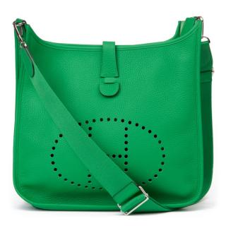 Hermes Evelyne lll in Bamboo Clemence Leather