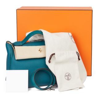 HERMES 24/24 Vert Bosphore Togo & Swift Leather Bag