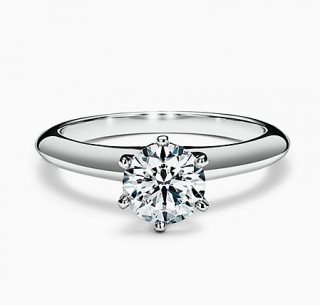 Tiffany The Setting Engagement Ring in Platinum