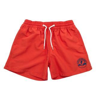 Archimede Red Boys' Swim Trunks