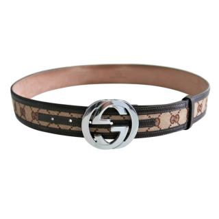 Gucci monogram interlocking belt 90cm