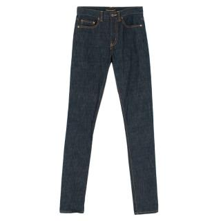 Saint Laurent High Waisted Indigo Jeans