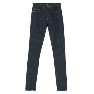 Saint Laurent High Waisted Indigo Jeans