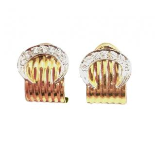 Bespoke 18ct Gold Diamond C Clip Earrings