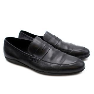 Harrys of London Black Leather Loafers