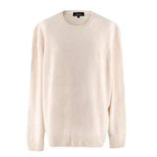 Faconnable Wool Knit Cream Jumper