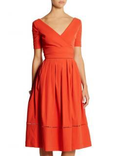 Preen by Thornton Bregazzi tomato red Robin stretch crepe dress