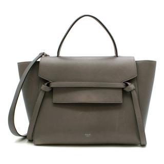 Celine Grey Leather Nano Belt Bag