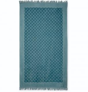 Bottega Veneta intrecciato blue beach towel.