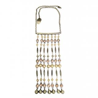 Dyrberg/Kern Crystal Chain Chandelier Necklace