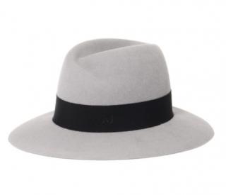 Maison Michel Pearl Grey Rabbit Fur Felt Virginie Hat
