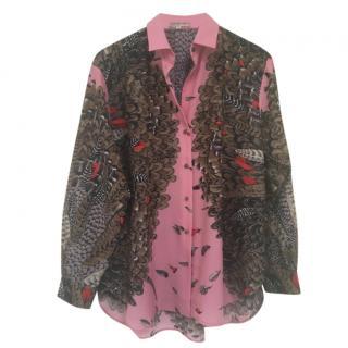 Paul & Joe feather print blouse