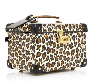 Charlotte Olympia X Globe-trotter Leopard-print Leather Vanity Case