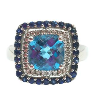 Le Vian blue topaz, sapphire and diamond Encore ring