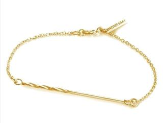 Noritamy Gold Plated Screw Chain Bracelet