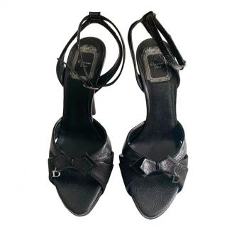 Christian Dior Black Leather Sandals