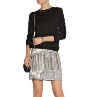 Dolce & Gabbana Rome ruin print linen skirt