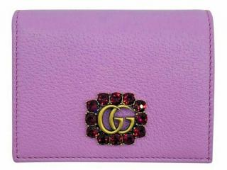 Gucci Leather Crystal Embellished Compact Wallet
