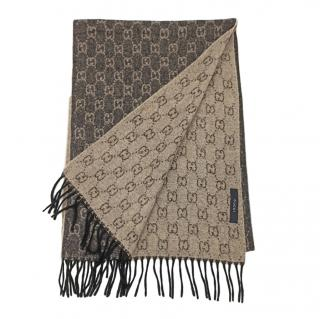 Gucci Reversible Cashmere Knit Scarf