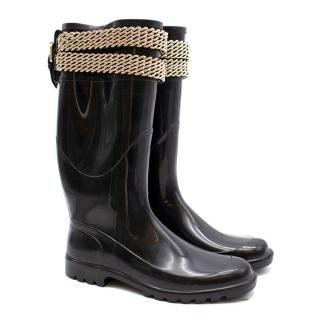 Burberry Chain Trimmed Wellington Boots
