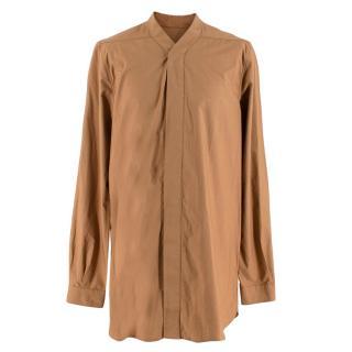 Rick Owens Men's Camel Faun Shirt