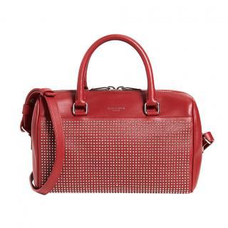 Saint Laurent red studded baby duffel bag