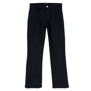 J Brand Dark Blue Cropped Wide Leg Jeans