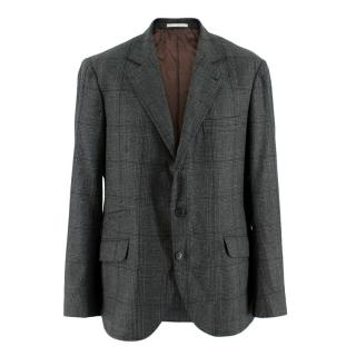 Brunello Cucinelli Men's Wool, Silk & Cashmere Single Breasted Jacket