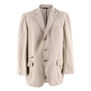 Ermenegildo Zegna Men's Beige Single Breasted Jacket