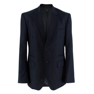 Joseph Navy Blue Single Breasted Wool Blazer