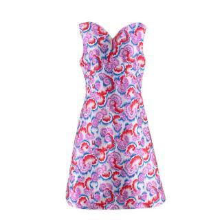 Osman Jacquard A-Line Mini Dress