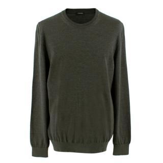 Z Zegna Men's Grey Cashmere Blend Sweater