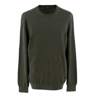 Z Zegna Men's Grey Cashmere Blend Sweater