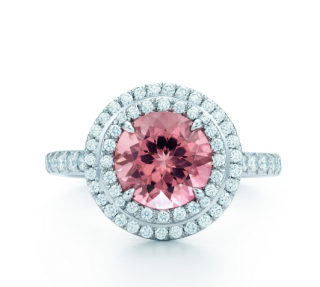 Tiffany & Co. Soleste Pink Tourmaline & Diamond Ring