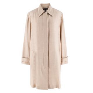 Ralph Lauren Taupe Linen Swing Coat