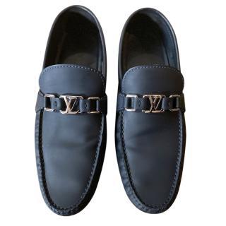 Louis Vuitton Navy Matte Calfskin Loafers
