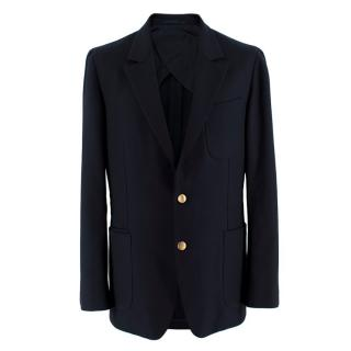 Yves Saint Laurent Navy Men's Single Breasted Jacket
