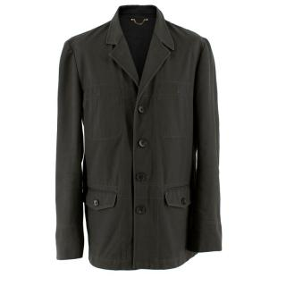 Louis Vuitton Mens Grey Cotton Jacket